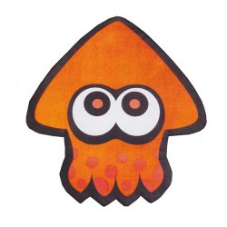 Splatoon スプラトゥーン ダイカットフロアマット オレンジ 単品