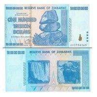 100兆ジンバブエドル 100000000000000ドル ハイパーインフレ ジンバブエドル 紙幣